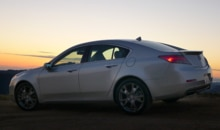 A side view of the 2013 Acura TL SH-AWD