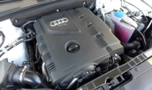 The 2.0-liter turbocharged inline-4 of the Audi A4 2.0T quattro manual