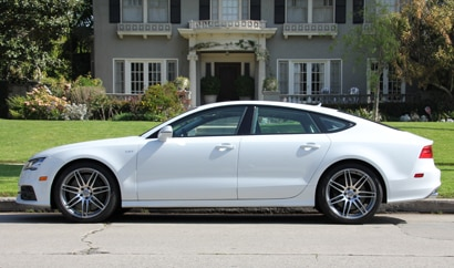 A side view of the 2014 Audi S7 quattro S tronic