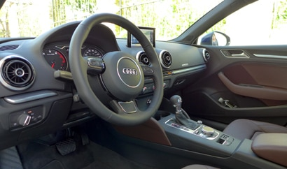 The interior of the 2015 Audi A3 2.0T