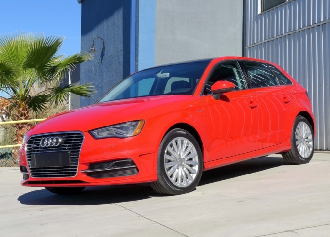 2016 Audi A3 e-tron in misano red