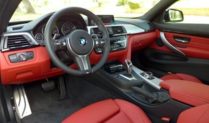 The interior of the 2014 BMW 435i Coupe
