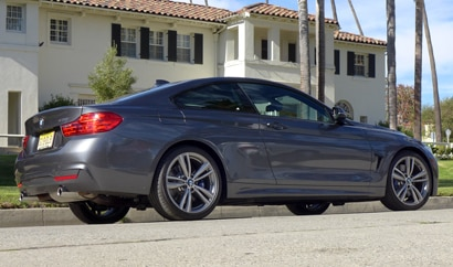 A side view of the 2014 BMW 435i Coupe