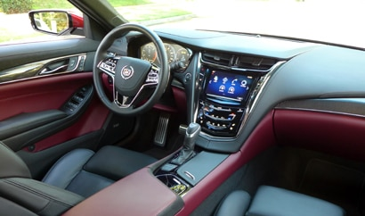 The interior of the 2014 Cadillac CTS 2.0T Premium Collection