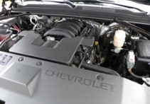 The V-8 EcoTech3 enging of the 2015 Chevrolet Suburban 4WD 1/2 Ton LT