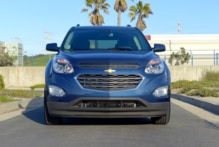 A front view of the 2016 Chevrolet Equinox FWD LT