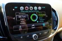 """The 2016 Chevrolet Volt Premier comes equipped with a MyLink radio 8"""" screen"""