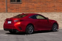 2015 Lexus RC 350 back view
