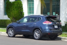 2014 Nissan Rogue back view