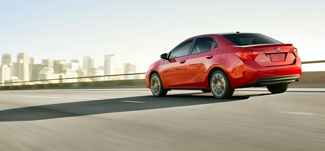 The 2017 Toyota Corolla featured on GAYOT's Best Small Cars list.