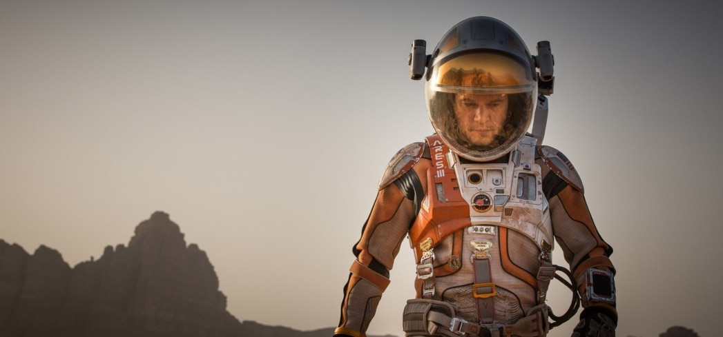 The Martian, one of GAYOT's Best Films of 2015 (Photo Credit: Aidan Monaghan - © 2015 Twentieth Century Fox)