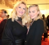 Actress Margot Robbie with Sophie Gayot