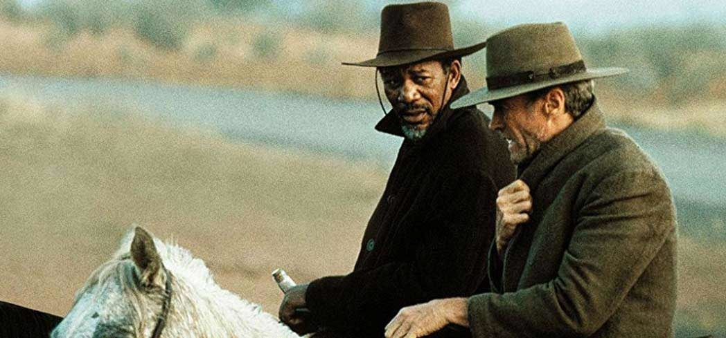 Unforgiven, starring Clint Eastwood and Morgan Freeman, is one of GAYOT's Best Western Movies of All Time
