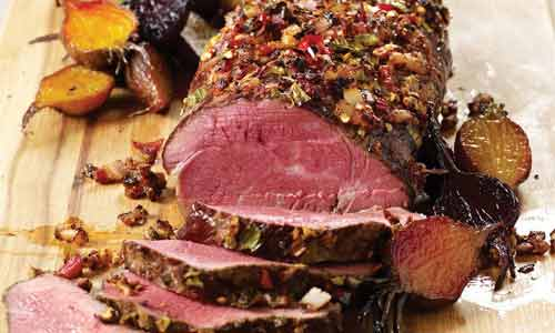 Chateaubriand steak is cut from the thickest part of beef filet