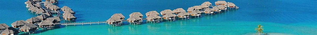 Over-water bungalows at Four Seasons Resort Bora Bora