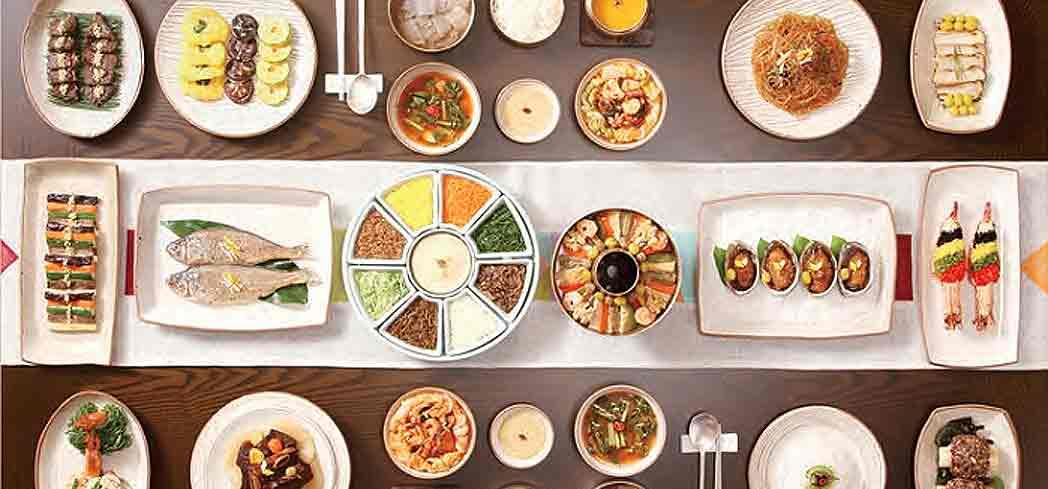 A traditional Korean set menu, called Hanjeongsik