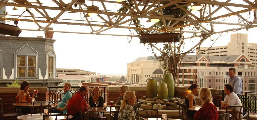 The roof view at Reata restaurant in Fort Worth, Texas