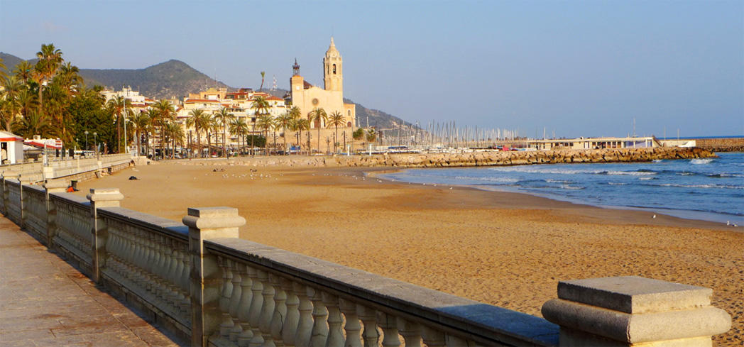The beach of Stiges in Spain