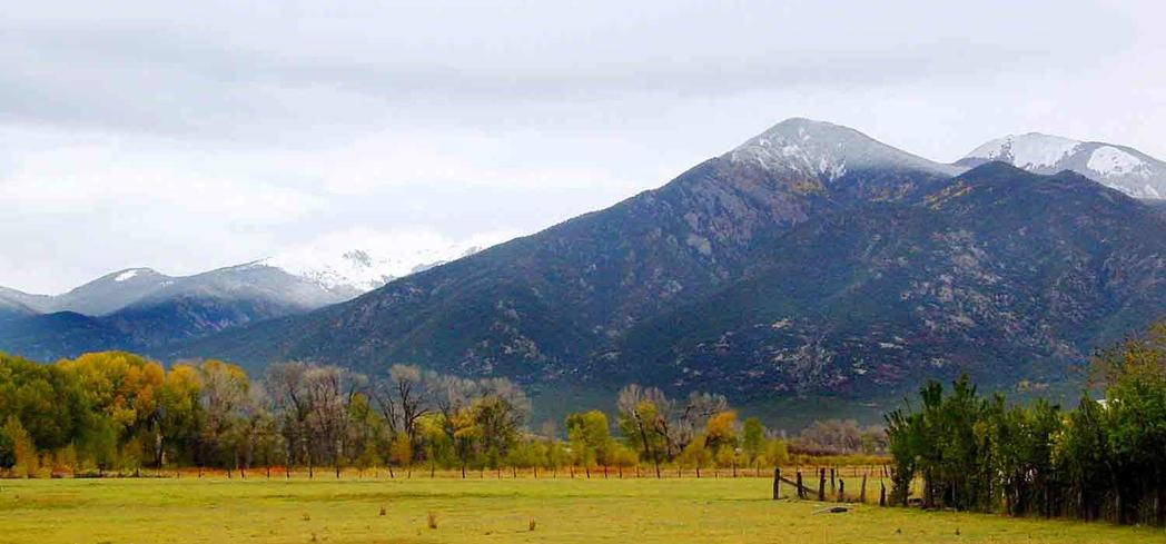 A view of Taos Mountains in New Mexico