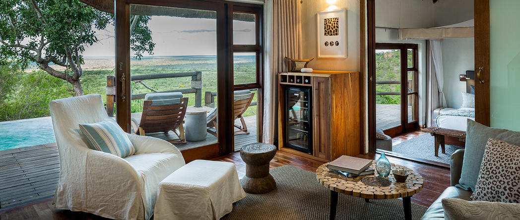The Makwela Dawn Suite at the Ulusaba Private Game Reserve in Sabi Sand, South Africa