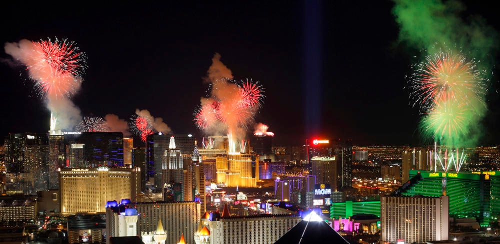 The Vegas Strip on New Year's Eve is one of the biggest parties in the world