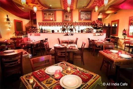 Dining room of All India Cafe in Pasadena, CA