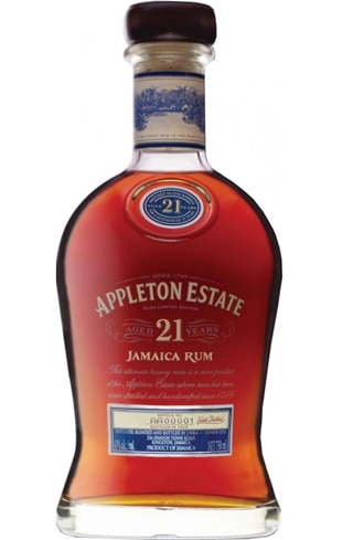 Appleton Estate 21 Year Old rum imparts strong flavors of honeysuckle and molasses