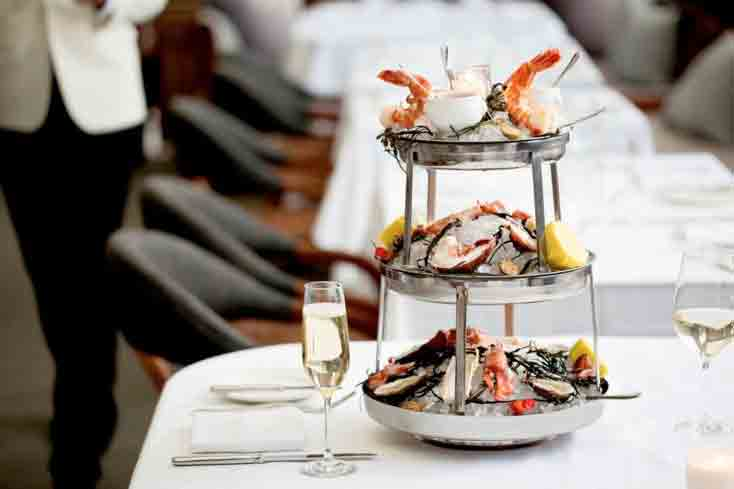 Seafood tower at Baltaire in Los Angeles