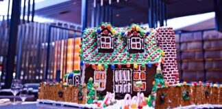 Gingerbread house at Tom Colicchio's Heritage Steak in Las Vegas
