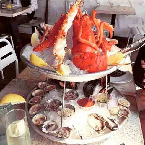 Seafood tower at Blue Plate Oysterette