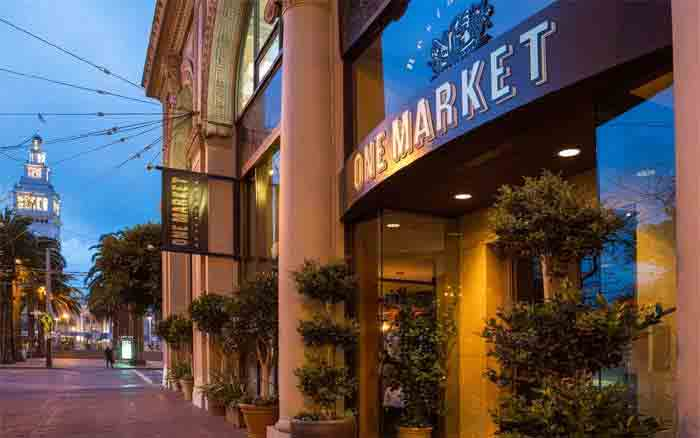 Exterior of One Market in San Francisco, CA