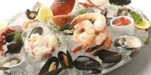 Shellfish plateau at SALT Restaurant & Bar in Marina del Rey