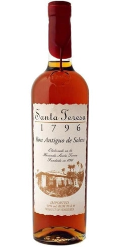 Santa Teresa has been made in Venezuela since 1796 and blends flavors of vanilla, caramel, cherry and banana