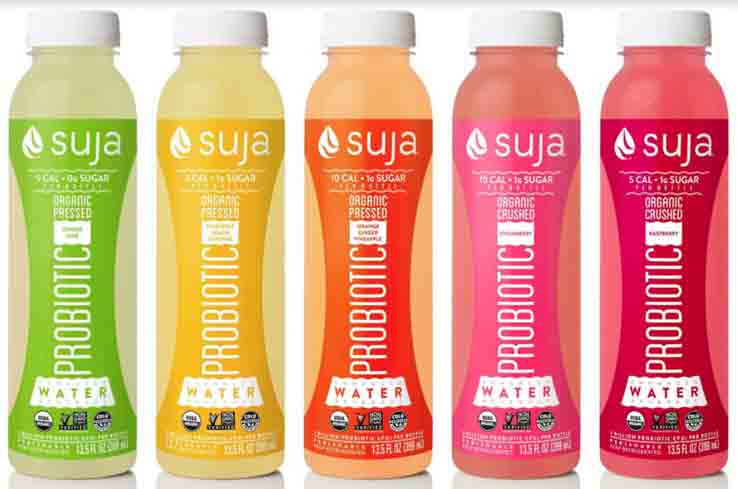 Each bottle of Suja contains 2 billion vegan probiotics, which are known to have digestive benefits.