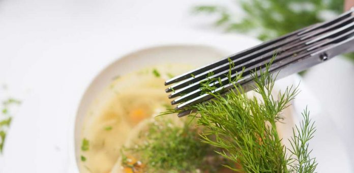 Easy-to-use and hassle-free Jenaluca herb scissors, one of GAYOT's Top 10 Kitchen Gadgets