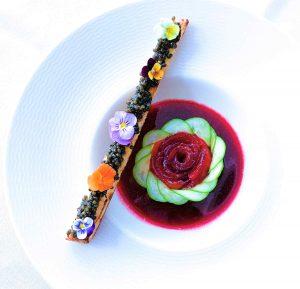 Chef Barbara Pollastrini Caviar Salmon