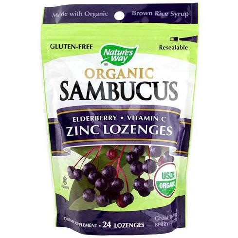 Nature's Way Organic Elderberry Zinc Lozenges