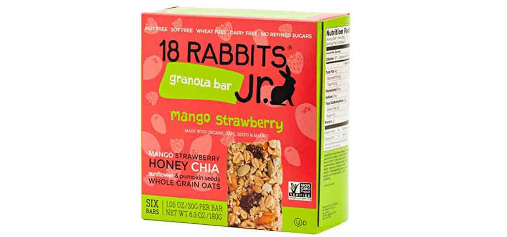 18 Rabbits gluten-free bars are packed with fruity flavor