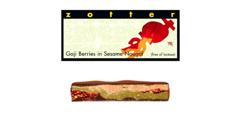 Goji Berries in Sesame Nougat