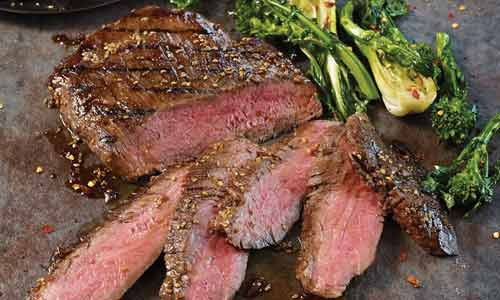 Flank steak is often used for fajitas
