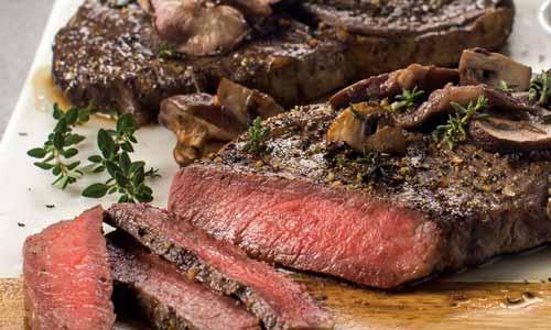 Ribeye steak is a favorite