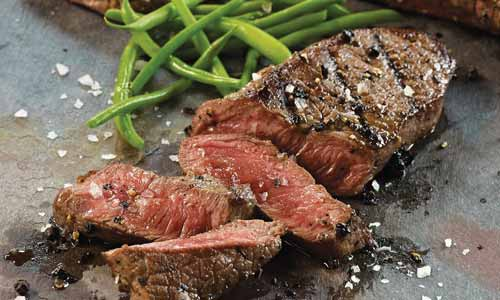 Sirloin steak is cut from the rear back portion of the animal