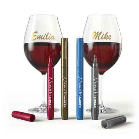 Metallic Wine Glass Pens