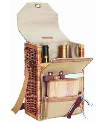 Picnic Time Wine and Cheese Picnic Basket