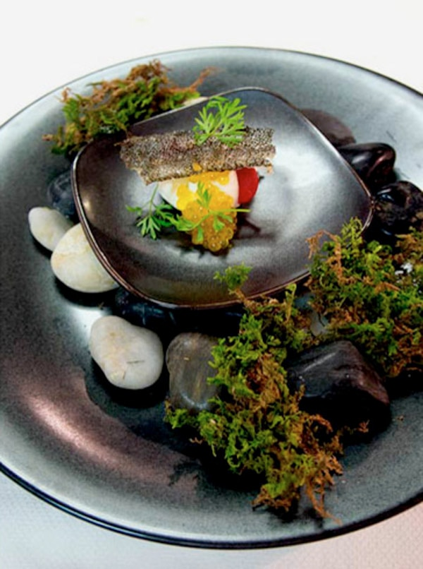 The mousse sable fish from Aubergine