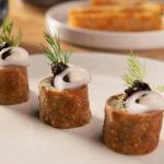 Potato Caviar Knish | Cleo Hollywood
