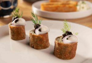 Potato Caviar Knish | Cleo Hollywood