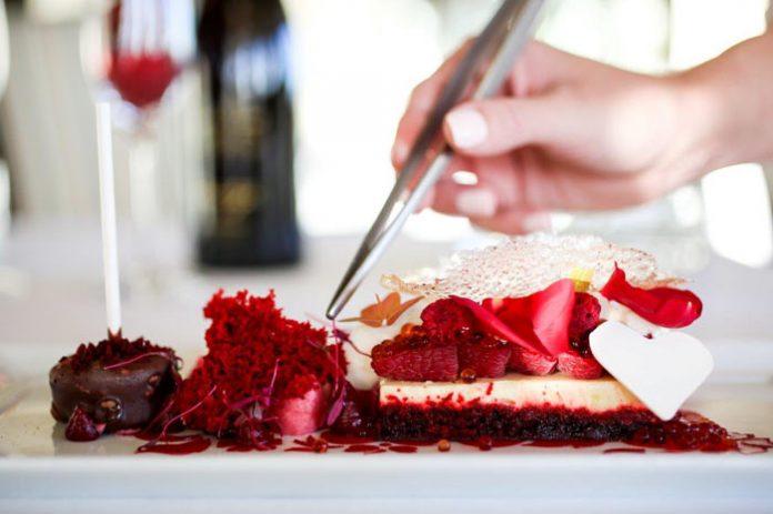 Valentine's Day dessert from The Loft, Montage Laguna Beach