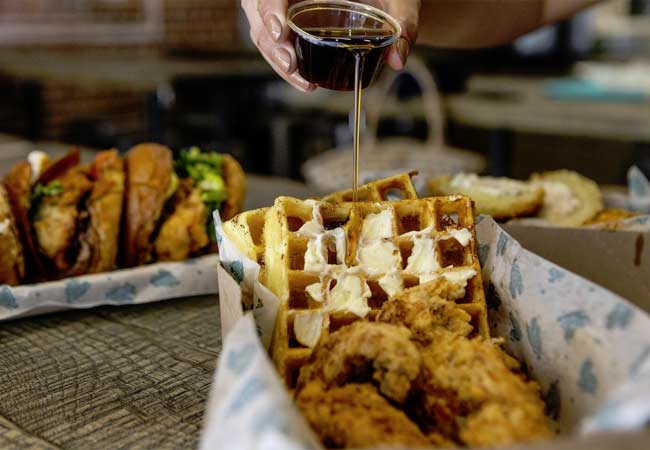 South City Fried Chicken's Chicken & Waffle Box
