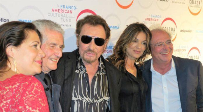 Johnny Hallyday, Claude Lelouch, Nadia Farès, Samuel Hadida